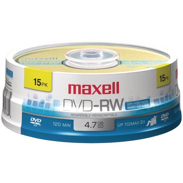 4.7GB DVD-RW 15CT SPINDLE