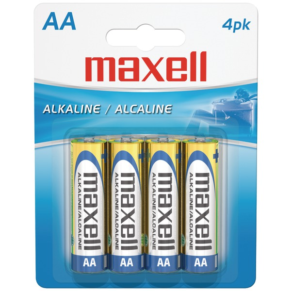 AA 4PK CARDED BATTERIES