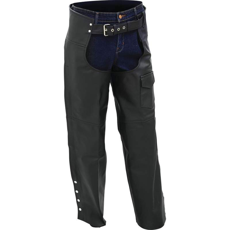 GEN LTH MOTORCYCLE CHAPS -XL