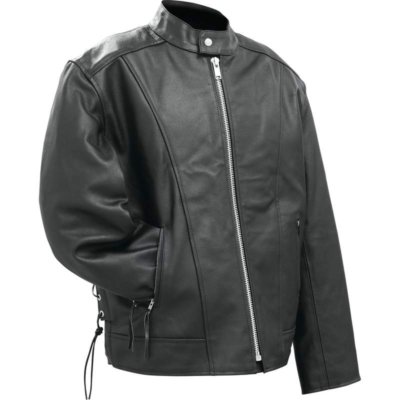 GEN SOLID LEATHER JACKET - M