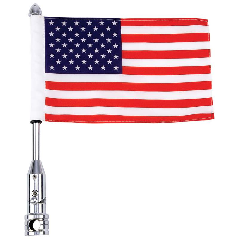 MC FLAGPOLE MOUNT & USA FLAG