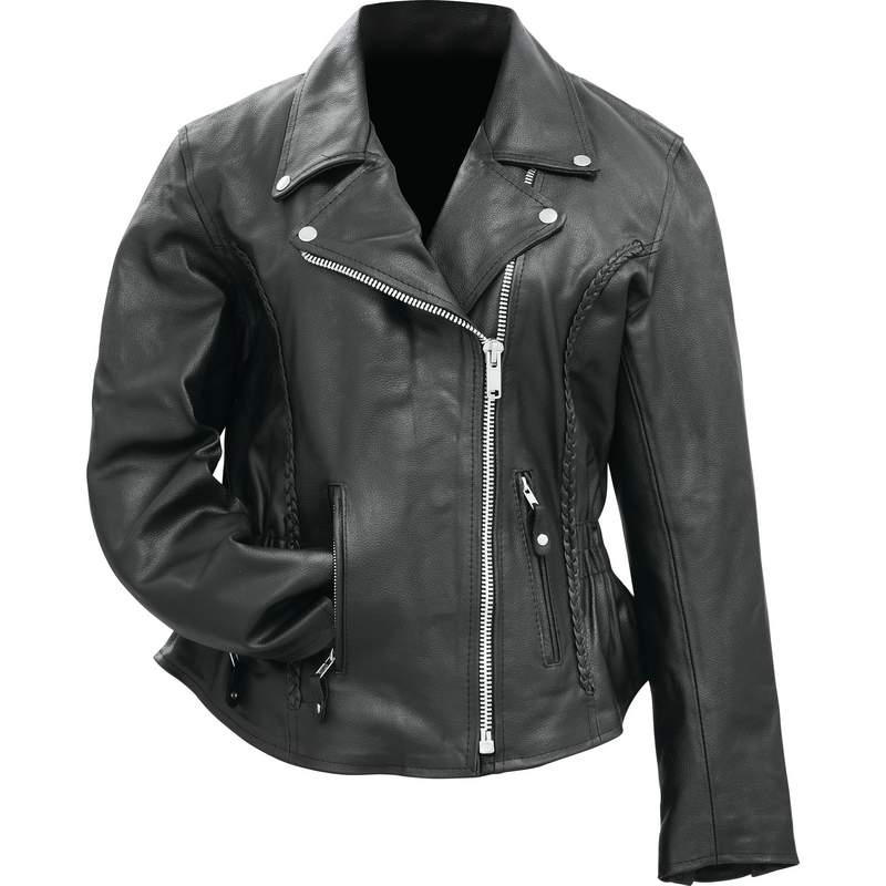 LADIES GEN LEATHER JACKET - M