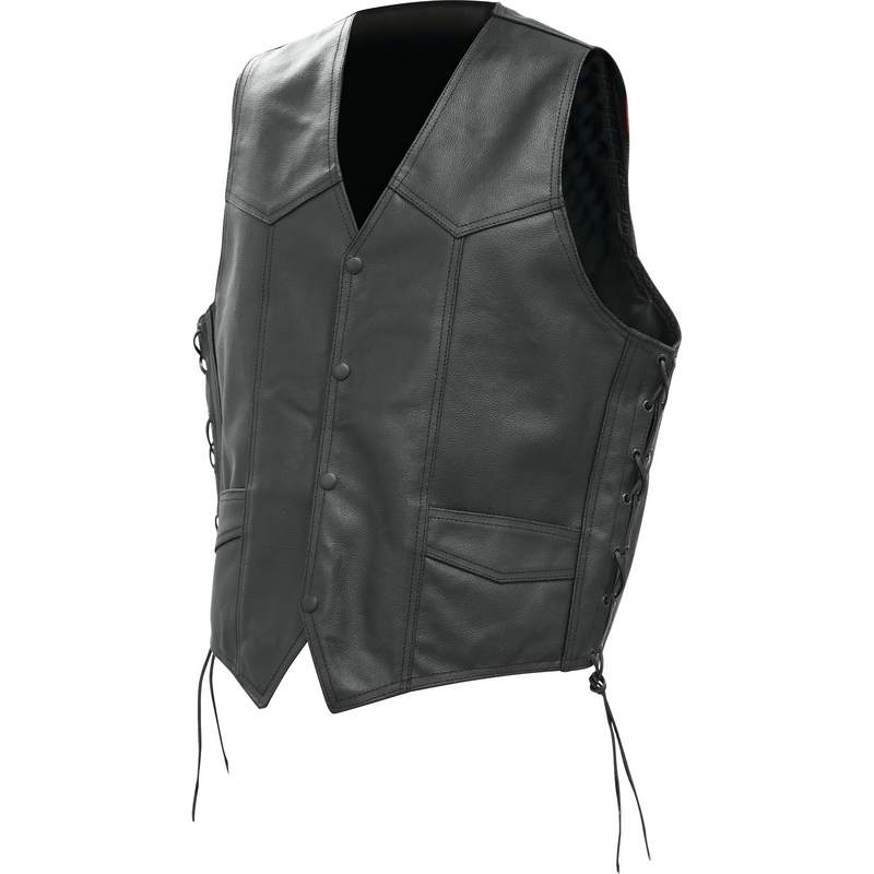 GEN SOLID LEATHER VEST - L