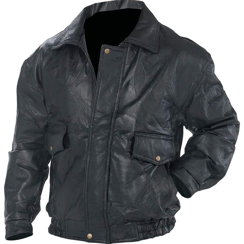 ROCK LEATHER JACKET- M