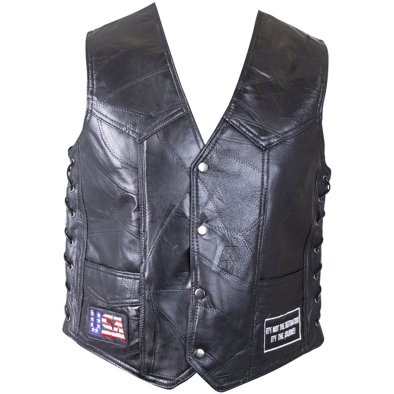 GENUINE BUFFALO LTHR VEST-3X