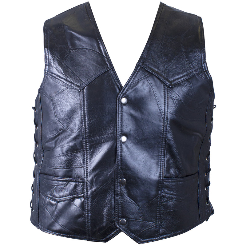 GENUINE BUFFALO LEATHER VEST-L