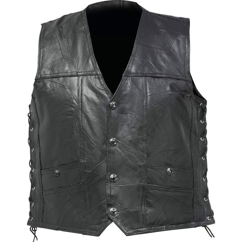 BUFFALO LEATHER VEST W/HOLSTER