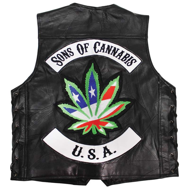 """SONS OF CANNABIS"" VEST-XL"
