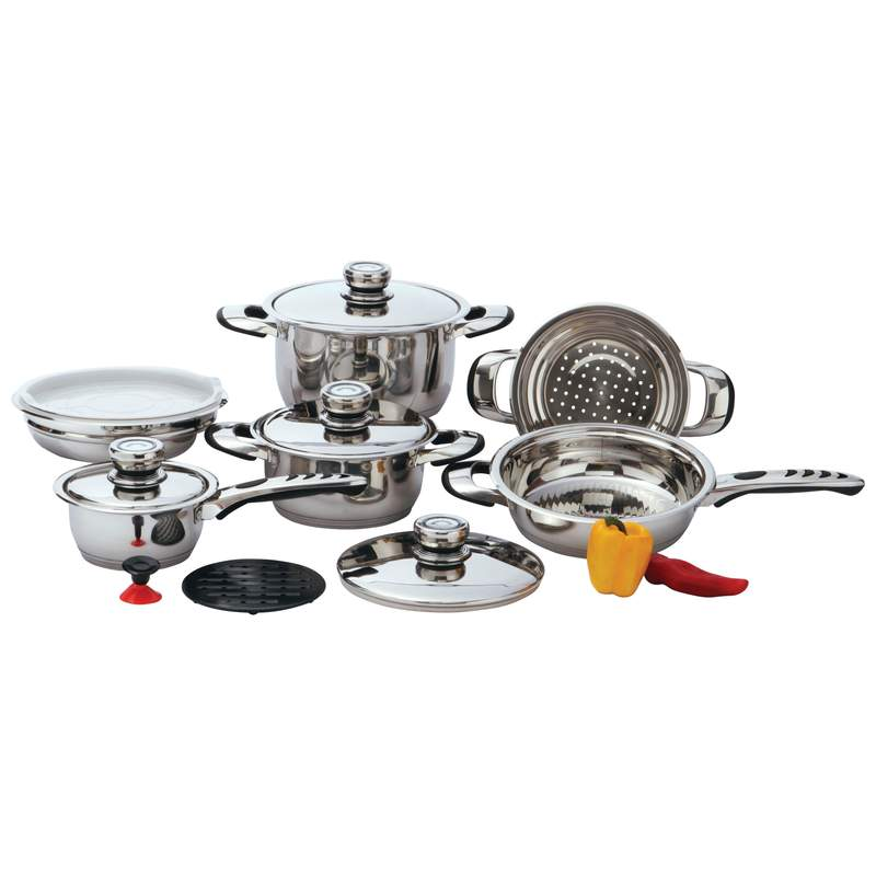 12PC 9PLY SS COOKWARE W/TRIVET
