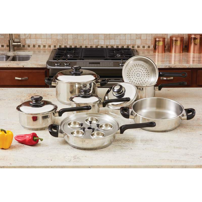 17PC S/S  COOKWARE SET
