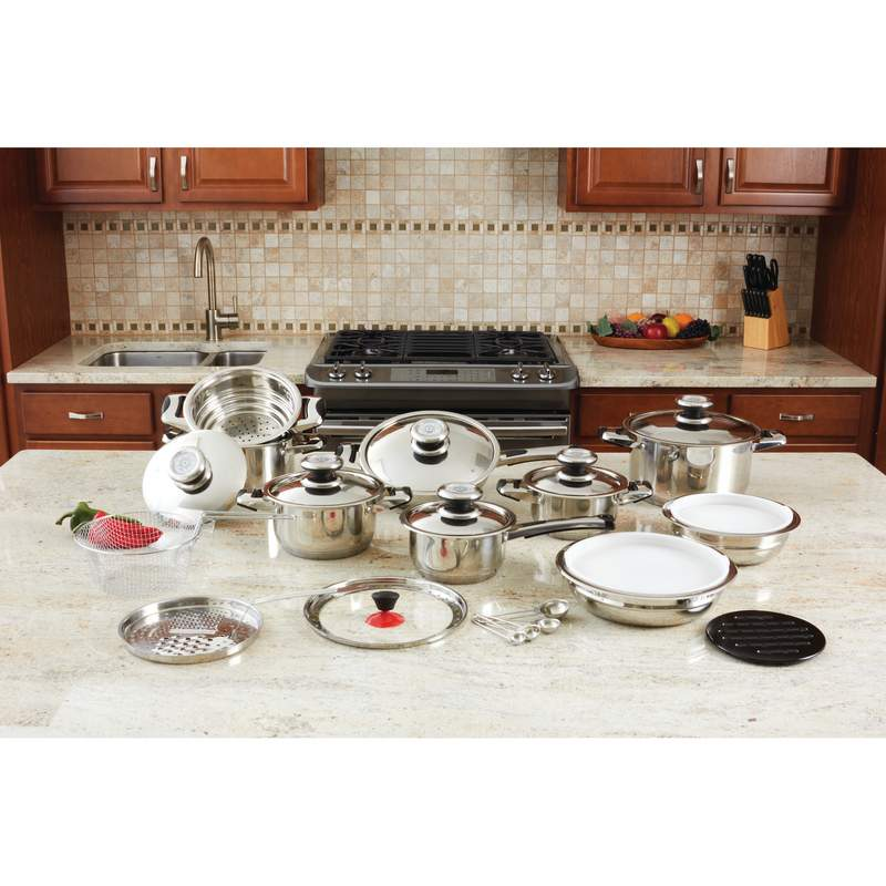 28PC SS COOKWARE SET