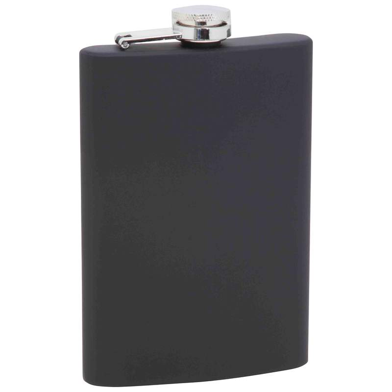 8OZ STAINLESS STEEL FLASK-BLK