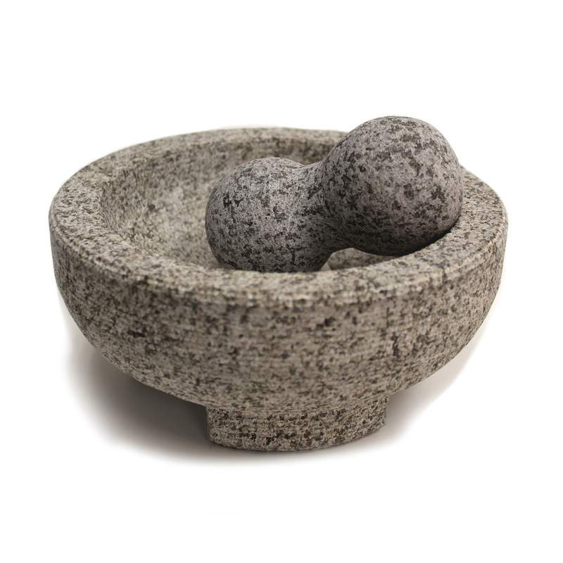 "8""GRANITE MOLCAJETE MTR&PESTLE"