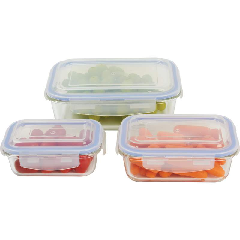 6PC GLASS STORAGE CONTAINER ST