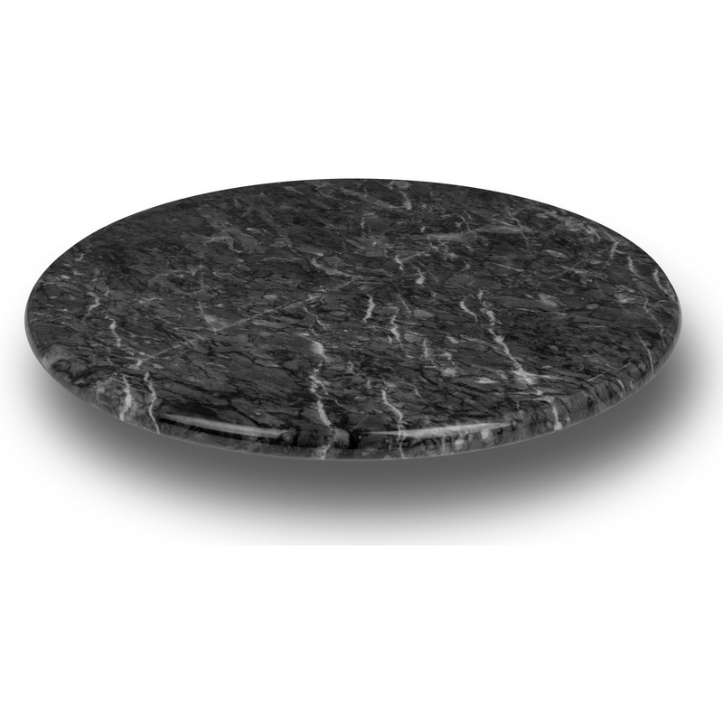 "12"" BLK MARBLE LAZY SUSAN"