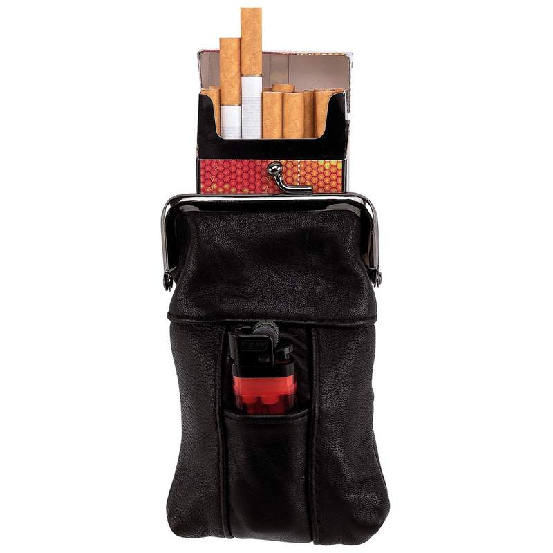 LEATHER CIGARETT/LIGHTER CASE