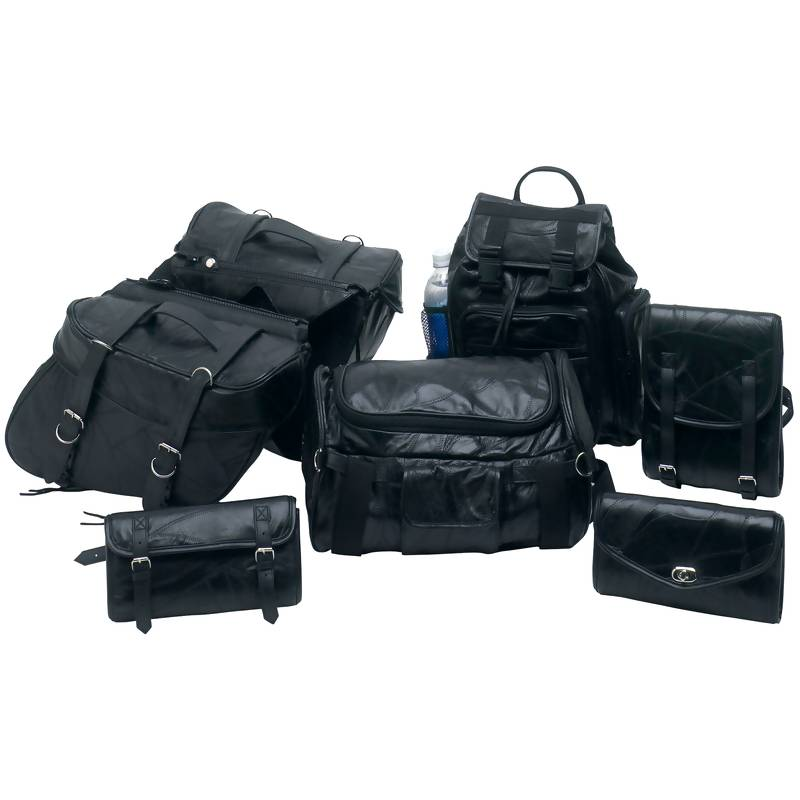 7PC LEATHER MOTORCYCLE LUGGAGE