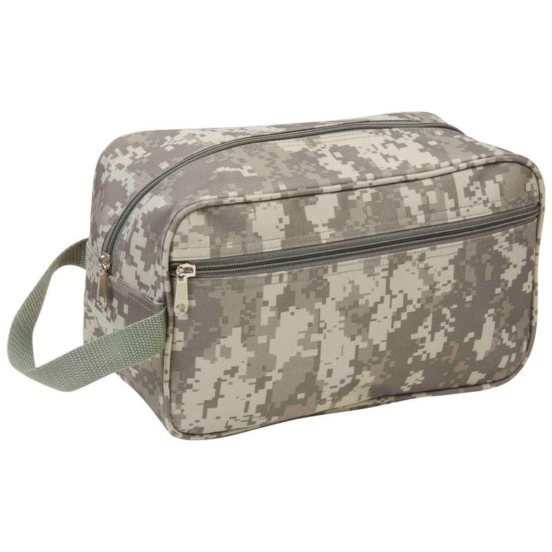 11IN DIGITAL CAMO TOILETRY BAG