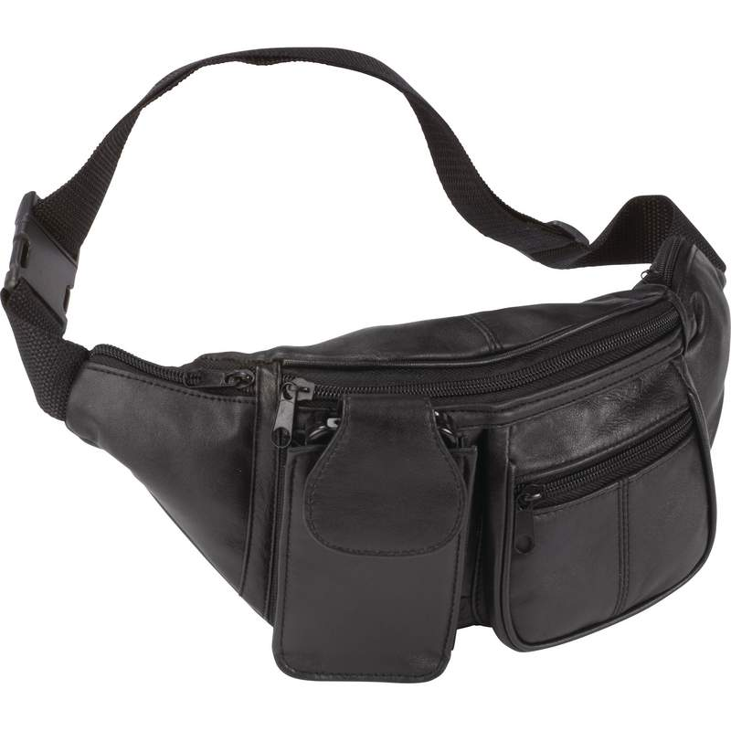 7 POCKET LEATHER WAIST BAG