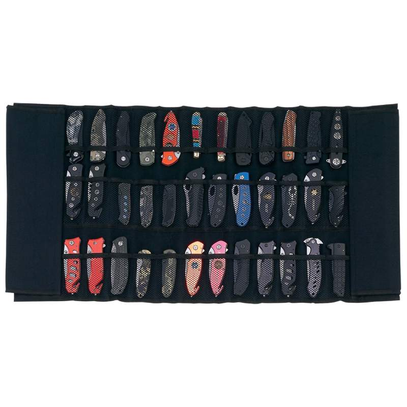 PADDED KNIFE DISPLAY ROLL CASE