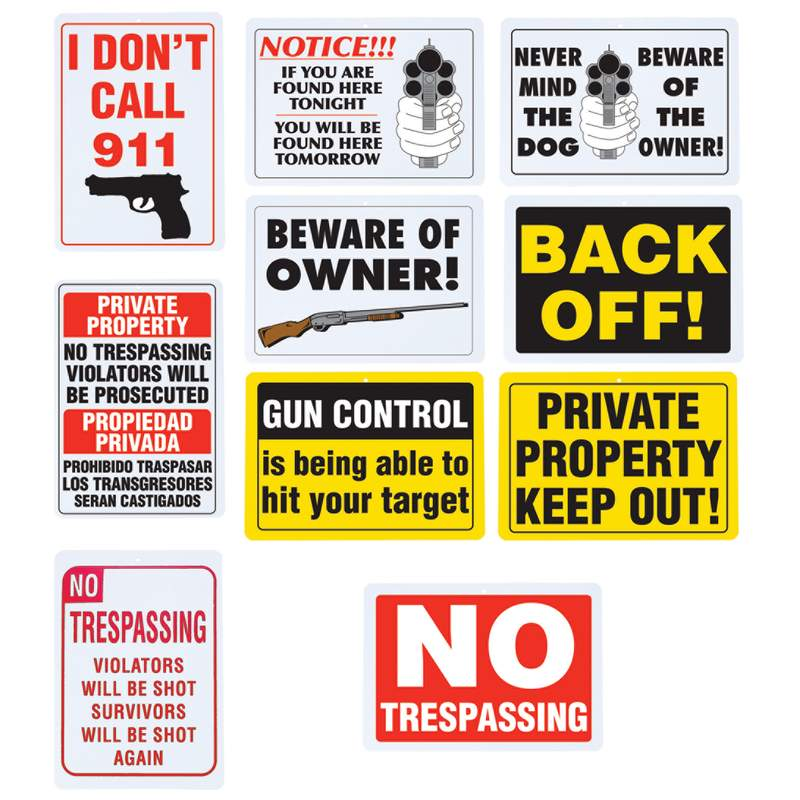 10 PACK SIGN SET