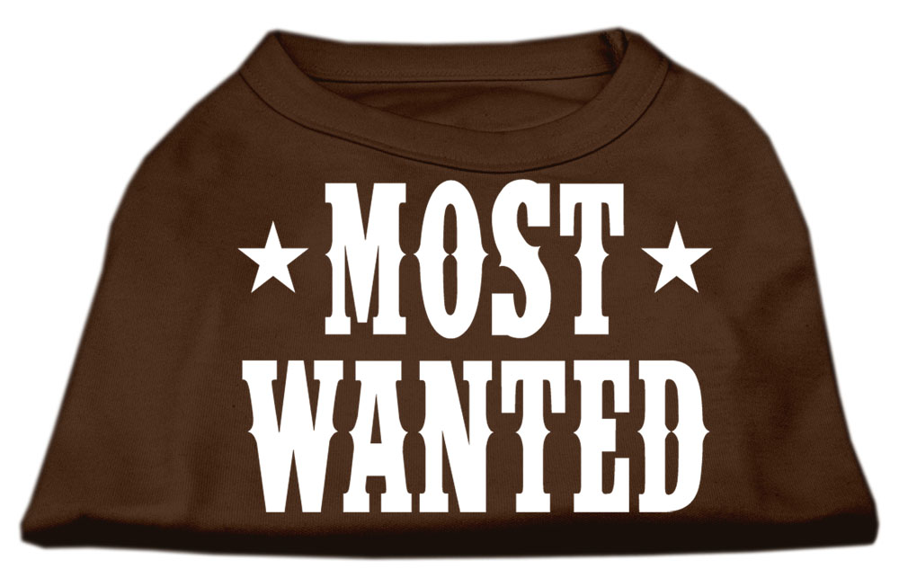 Most Wanted Screen Print Shirt Brown XXL (18)