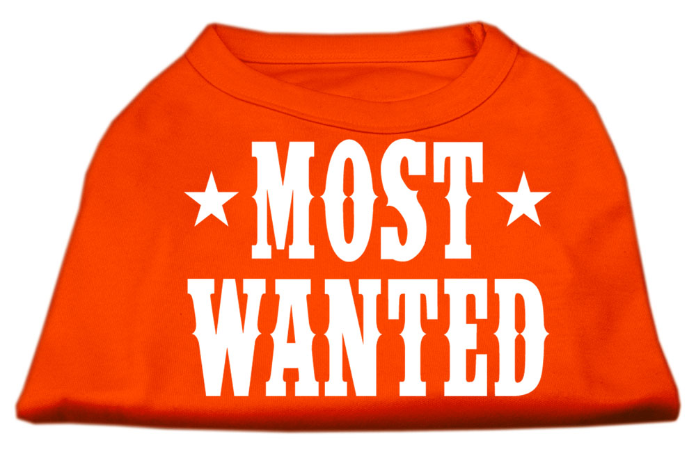 Most Wanted Screen Print Shirt Orange Sm (10)