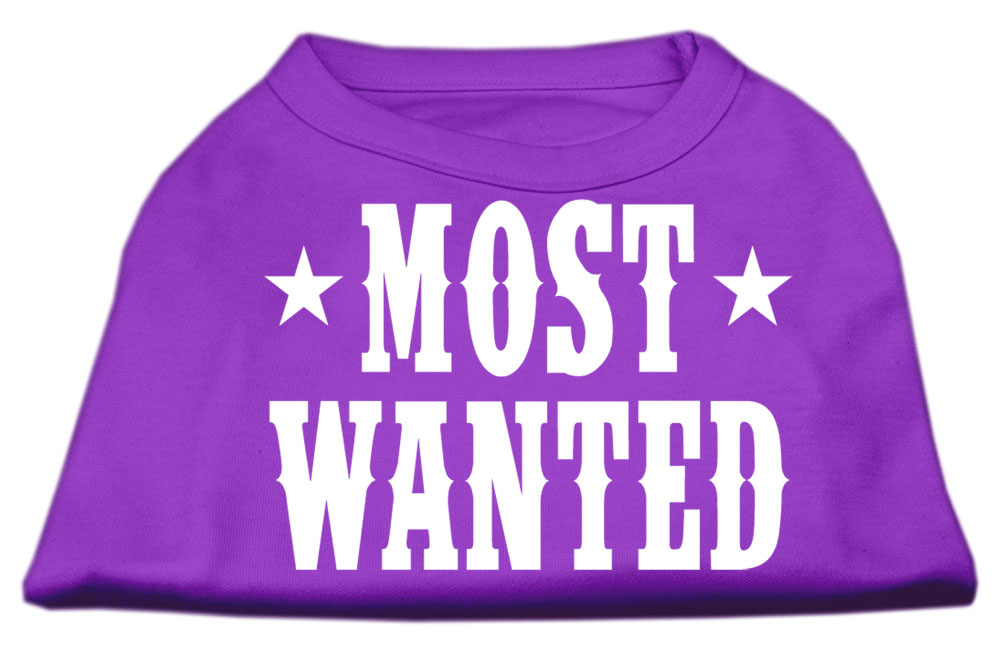 Most Wanted Screen Print Shirt Purple Sm (10)