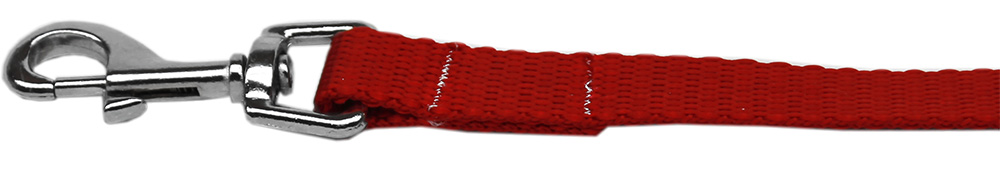 Plain Nylon Pet Leash 5/8in by 4ft Red