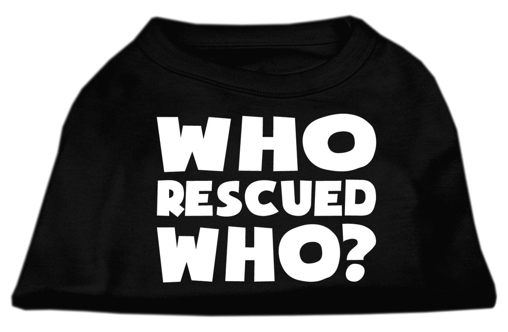 Who Rescued Who Screen Print Shirt Black XXL