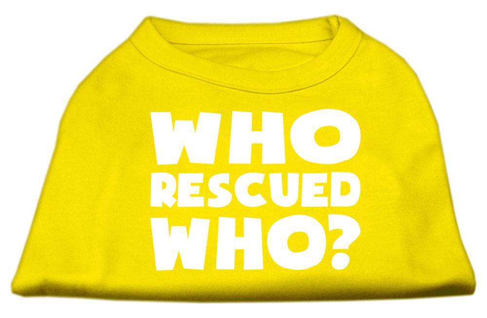 Who Rescued Who Screen Print Shirt Yellow XS