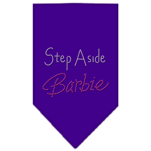 Step Aside Barbie Rhinestone Bandana Purple Small