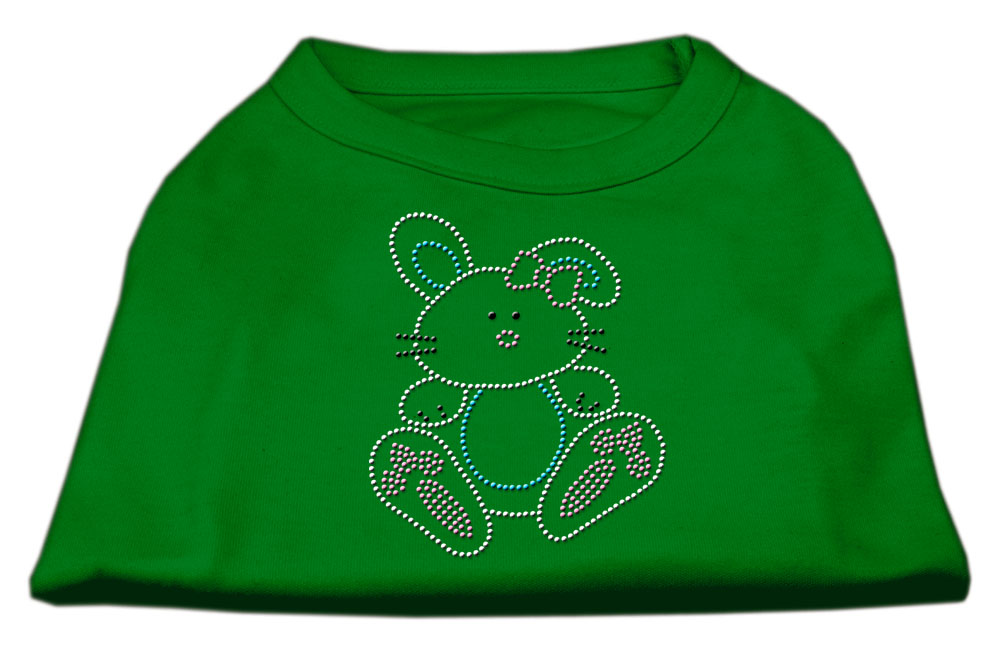 Bunny Rhinestone Dog Shirt Emerald Green XS (8)