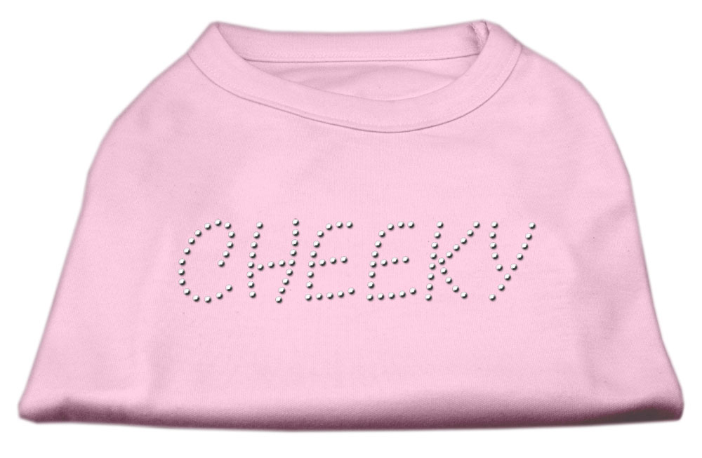 Cheeky Rhinestone Shirt Light Pink XXL (18)