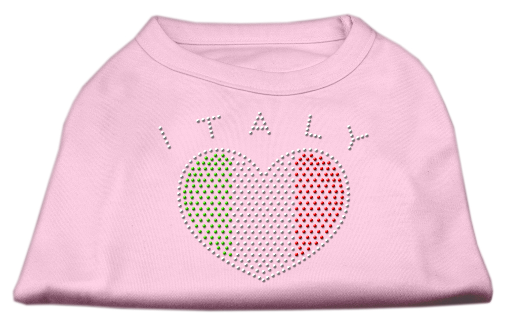 Italy Rhinestone Shirts Light Pink L (14)