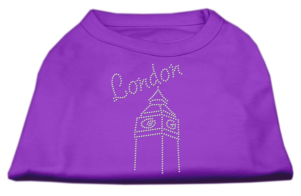 London Rhinestone Shirts Purple L (14)