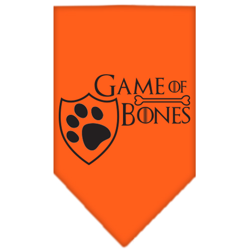 Game of Bones Screen Print Bandana Orange Large