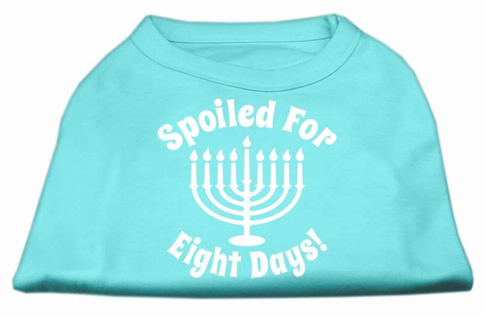 Spoiled for 8 Days Screenprint Dog Shirt Aqua XL (16)