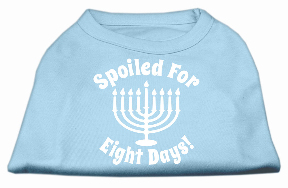 Spoiled for 8 Days Screenprint Dog Shirt Baby Blue Sm (10)