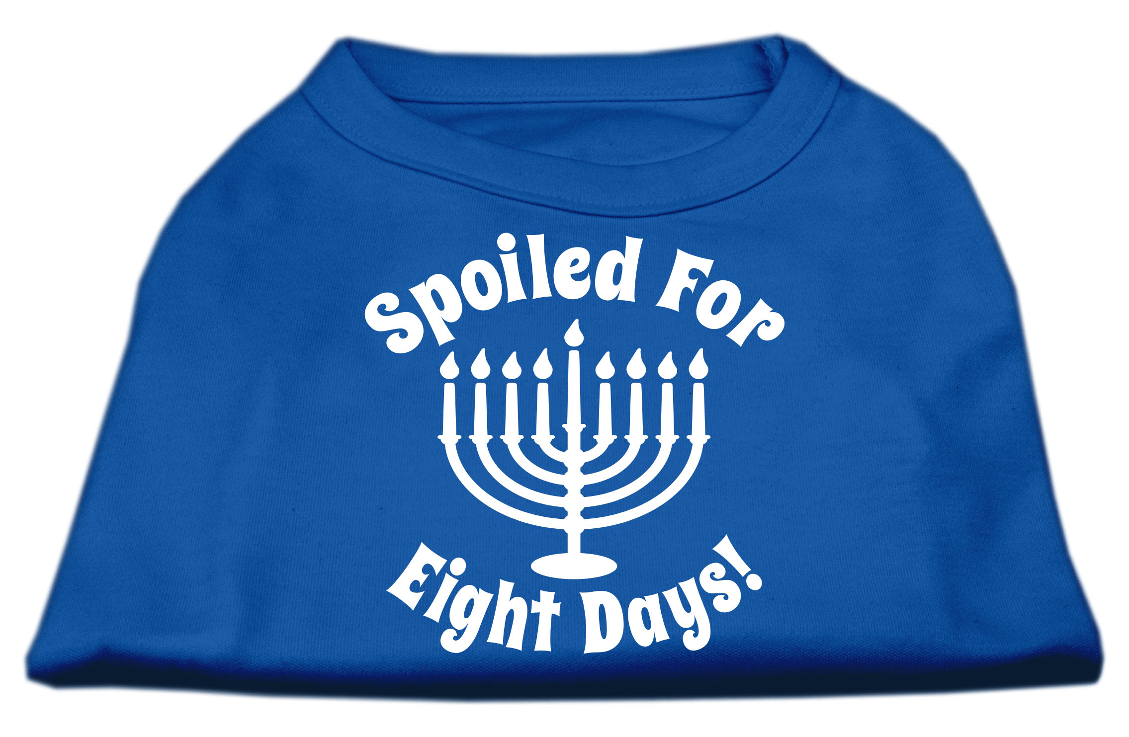 Spoiled for 8 Days Screenprint Dog Shirt Blue XXXL (20)