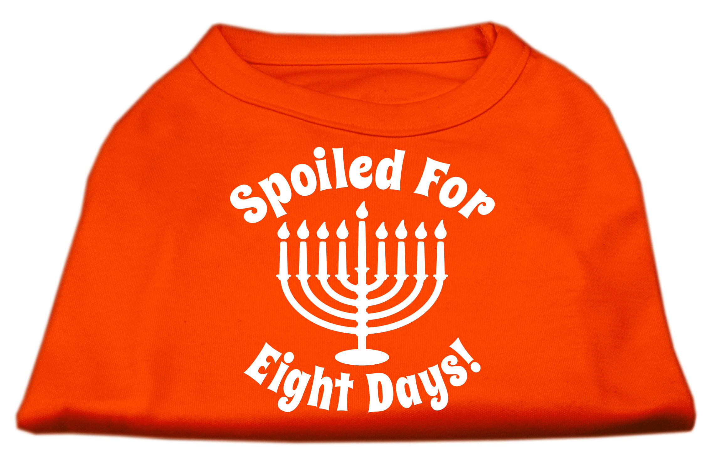 Spoiled for 8 Days Screenprint Dog Shirt Orange Sm (10)