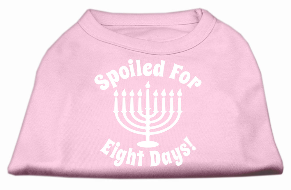 Spoiled for 8 Days Screenprint Dog Shirt Light Pink XXXL (20)