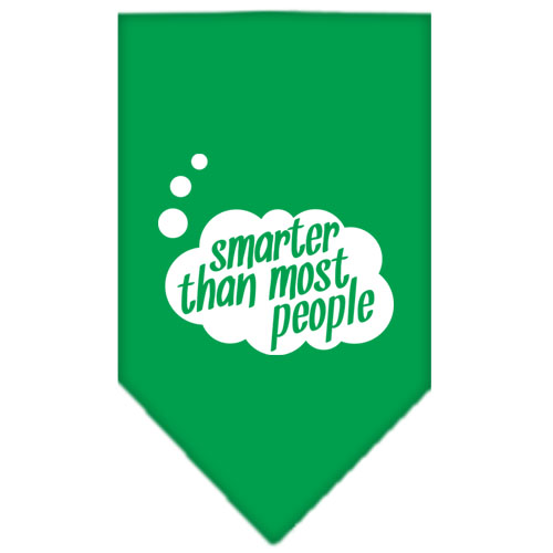 Smarter then most People Screen Print Bandana Emerald Green Small