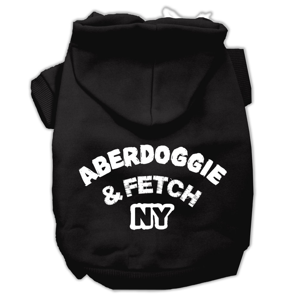 Aberdoggie NY Screenprint Pet Hoodies Black Size XXXL (20)