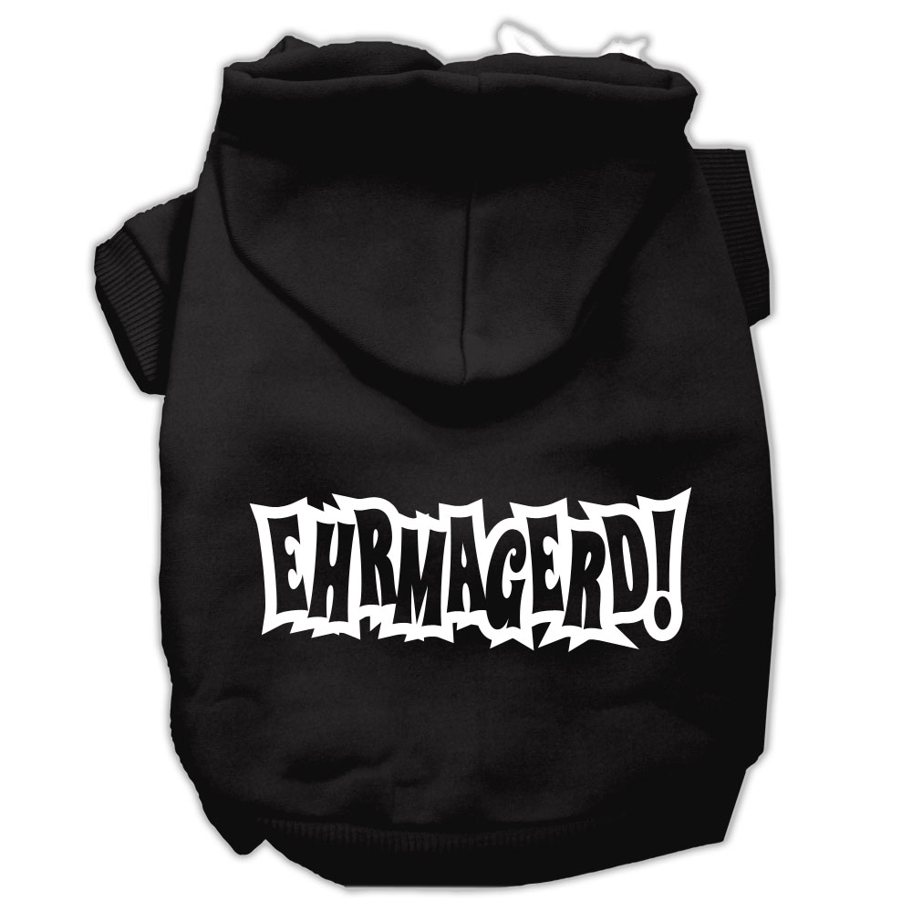 Ehrmagerd Screen Print Pet Hoodies Black Size XXXL (20)