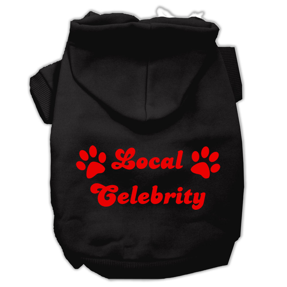 Local Celebrity Screen Print Pet Hoodies Black Size Lg (14)