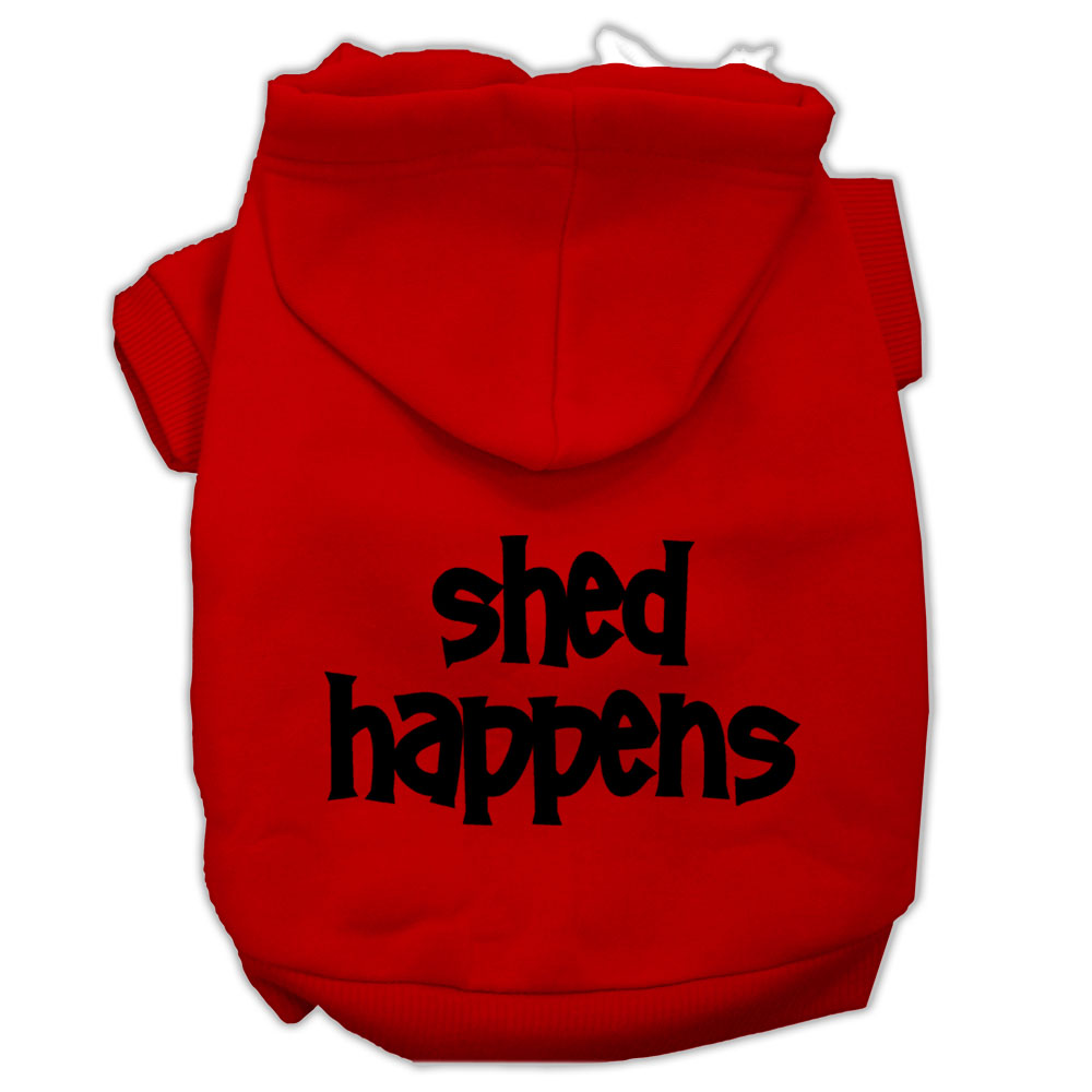 Shed Happens Screen Print Pet Hoodies Red Size XL (16)