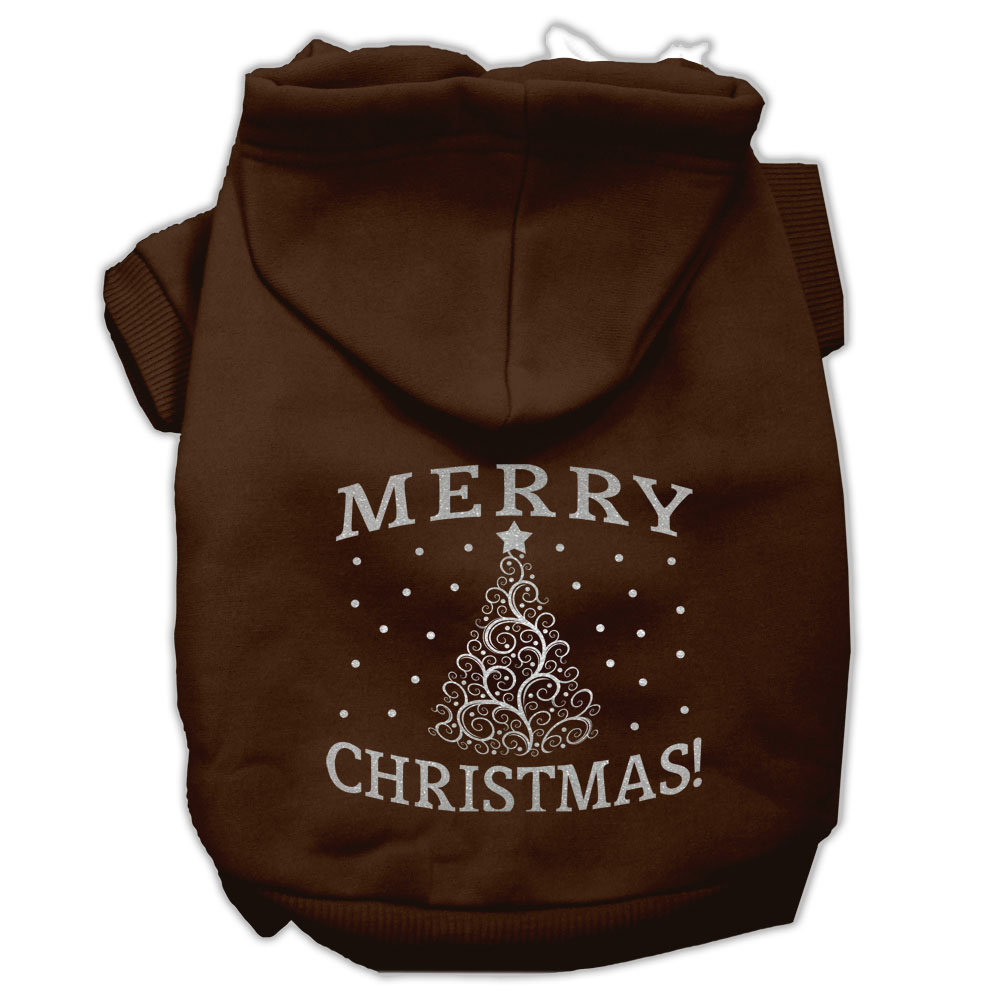 Shimmer Christmas Tree Pet Hoodies Brown Size XXL (18)