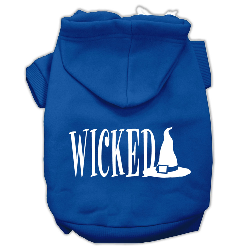 Wicked Screen Print Pet Hoodies Blue Size S (10)