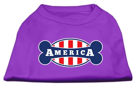 Bonely in America Screen Print Shirt Purple Sm (10)